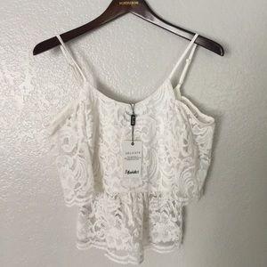 Bardot Tops - Bardot Lace Shirt