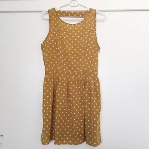 Dresses & Skirts - Gold Polka Dot Dress