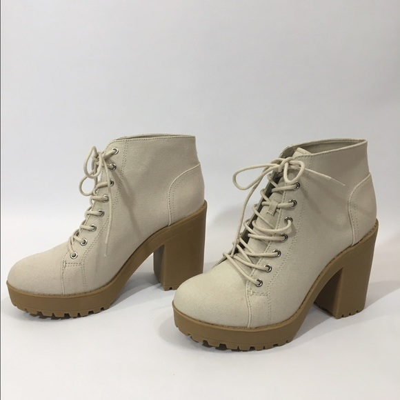 f7397f24a1c H M Shoes - H M Canvas Platform Boots New W O ...