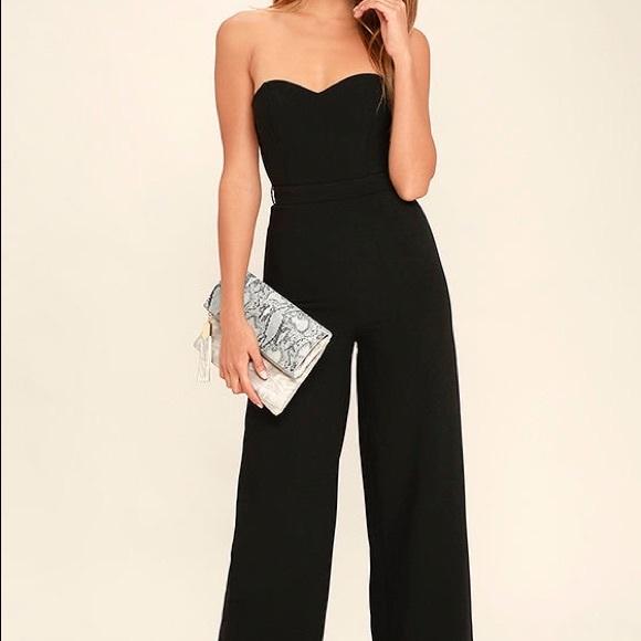 388a62b6f19d Lulu s Pop Life Black Strapless Jumpsuit