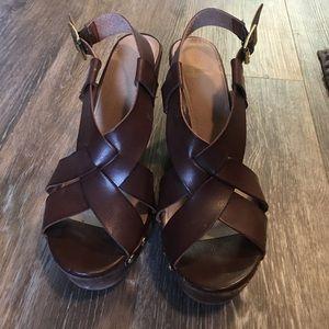 Fergalicious Shoes - Brown wedges