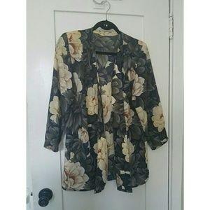 Vintage Sheer Floral Jacket