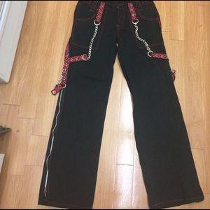 Tripp nyc Pants - Tripp NYC size 3 black w/plaid bondage pants