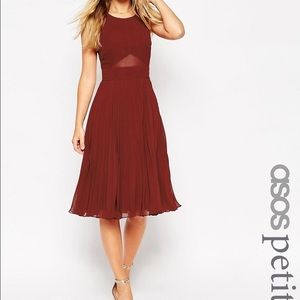 ASOS Petite Dresses & Skirts - sheer and Pleated midi dress NWOT