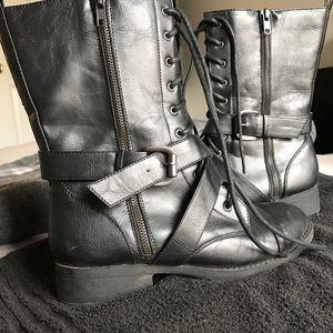 BONGO Shoes - Black combat boots
