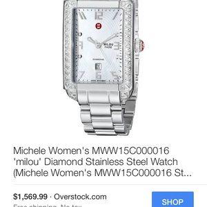 Michele Accessories - Milou Michele Diamond Art Deco Watch