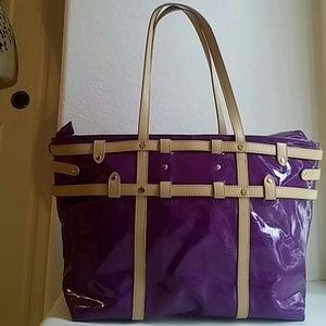 IMAN Handbags - IMAN Plum Tote