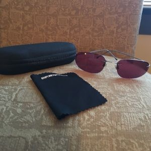 Emporio Armani Accessories - Emporio Armani Maroon Sunglasses with case