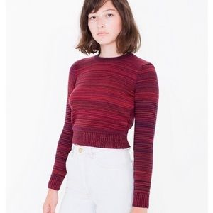 American Apparel Sweaters - AA XS red tide classic crop sweater NWT