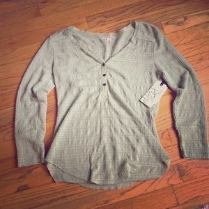 Melrose & Market Tops - NWT melrose and market green lace henley