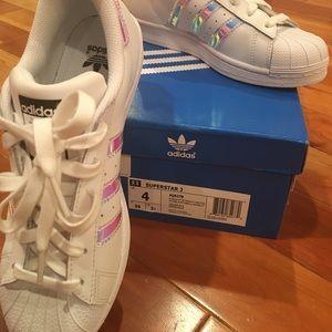 Adidas Shoes - Adidas Superstar size 4- women's 6 BNIB