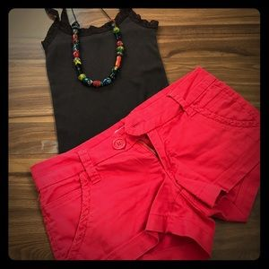 Freestyle Pants - Bright Red Short Shorts