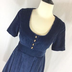 Tulle Dresses & Skirts - Retro style NWT navy corduroy pleated Tulle dress