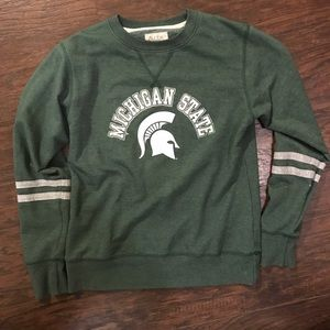 Tops - Michigan state crew neck sweatshirt