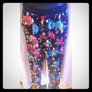 New Look Pants - Floral Print Harem Pants