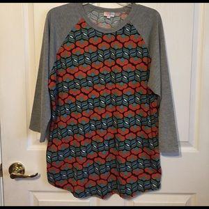 LulaRoe Randy sz 2X baseball shirt