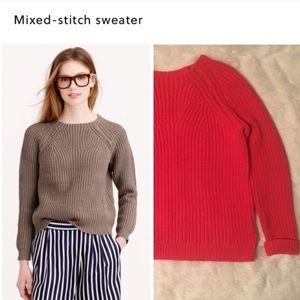 J. Crew Sweaters - J. Crew Orange Mixed Stitch Sweater