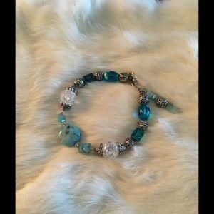 Bracelet Turquoise Glass Beads Western Wear