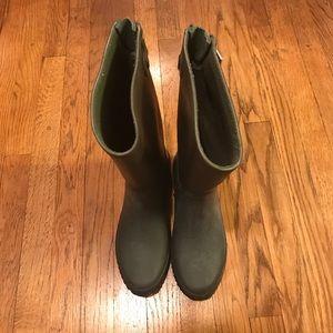 Tretorn Shoes - Tretorn Rain Boots Olive