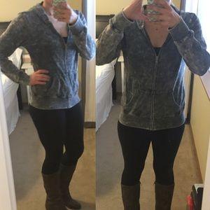 Billabong Tops - Gray burnout Billabong zip up hoodie Sz M