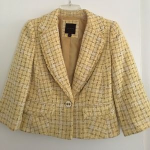 The Limited yellow tweed jacket XS