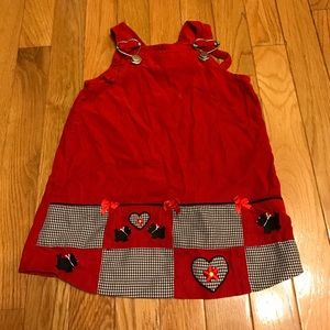 Bonnie Baby Other - Bonnie Baby red Scotty dog jumper dress 24M