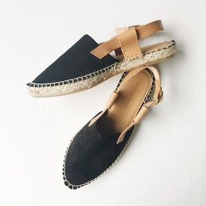Matt Bernson Shoes - Matt Bernson Black Suede Espadrille