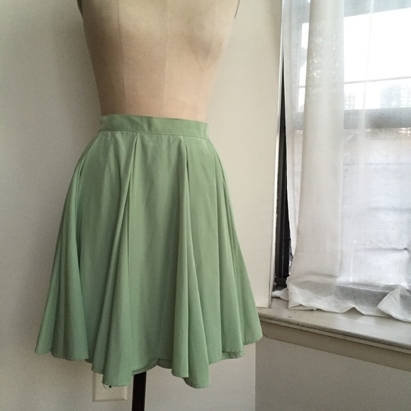 American Apparel Skirts - American Apparel Mint Green Skirt Size Medium