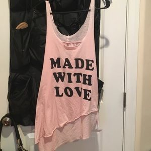 Local Celebrity Tops - Made with Love pink summer tank