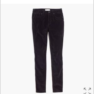 "Madewell Denim - Madewell 9"" high rise in velvet"