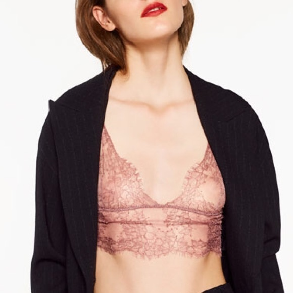fbcff30dc8 ZARA Lace Bralette Top BRAND NEW WITH TAGS