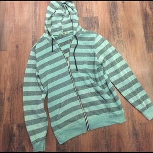 Alternative Apparel Sweaters - Alternative Earth Stripe Zip Up Sweatshirt