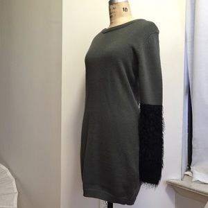 Cheap Monday Dresses & Skirts - Cheap Monday Dress with Fury Sleeves Size Large