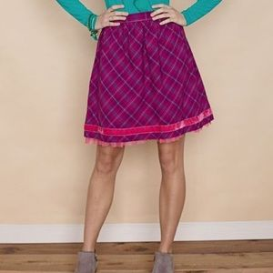 Matilda Jane plaid skirt
