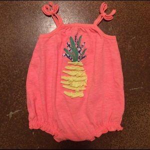 01c9a14f2bf Cherokee Bottoms - Cherokee Baby Girls  Ruffle Pineapple Romper