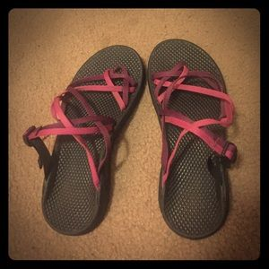Chacos Shoes - Purple and Pink criss-cross Chacos