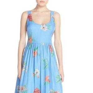 BB Dakota blue Floral fit and flare dress 4
