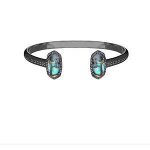 Kendra Scott Jewelry - Kendra Scott Elton Gunmetal Cuff w/ Abalone Shell