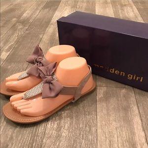 Madden Girl Shoes - Madden Girl Manii Thong Bow Sandal Tan Taupe