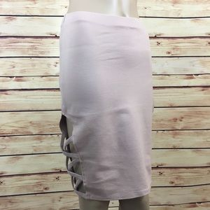 Charlotte Russe Dresses & Skirts - Blush nude cut out pencil skirt size S (nwt)