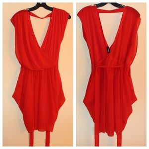 BEBE - Red dress with tie