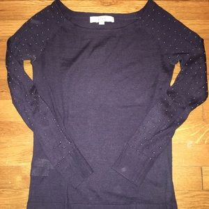 Ann Taylor The Loft Navy sweater XS