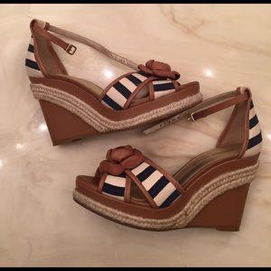 ANTONIO MELANI Shoes - Antonio Melanie navy stripe wedge