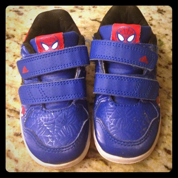 6e505472cafaf5 Adidas Other - Toddler adidas Spider-Man shoes -6.5