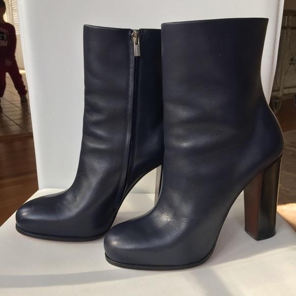 Celine stacked heel bootie