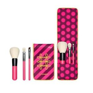 MAC Cosmetics Other - MAC Travel Mini Makeup Brush Gift Set Blush Bronze