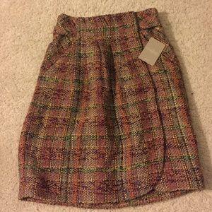 Anthropologie tweed skirt