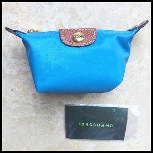 Longchamp Accessories - Longchamp Le Pliage Coin Purse in Ice Blue!