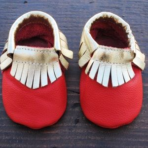 Other - Genuine Leather Baby Moccasins 🎄🎄🎄