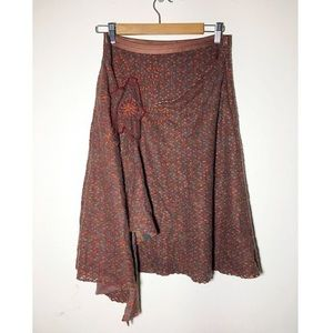 Free People Dresses & Skirts - Free People wool layered flower skirt 6
